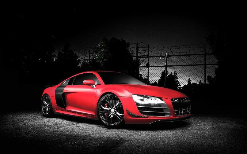 red r8 background